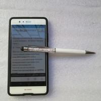 Schermo 100pcs universale di cristallo della penna capacitiva dello stilo di tocco 2 in 1 penna di BallPoint per Smart Mobile Phone Tablet