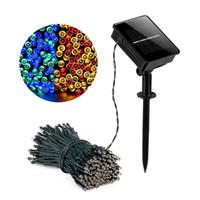 LED Solar String Light 12M 100LÉS Solar Power Fairy Lights 8 modes avec 7 couleurs imperméables à l'extérieur LED lumières de Noël