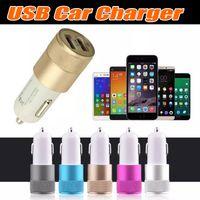 En iyi Metal Çift USB Portu Araç Şarj Evrensel 12 Volt 1 ~ 2 Amp Apple iPhone iPad iPod Samsung Galaxy Motorola için