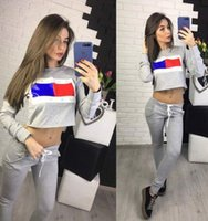Jogging suit sportswear for women Fashion flag printing piec...