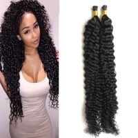 Я Жало наращивание волос Natural Color Пользовательских Capsule кератин Стики I-наконечник человеческих волос Deep фигурного 100г 1 г / прядь 100s
