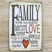 "New arrival "" FAMYLY LOVE"" Tin plate signs movie po..."