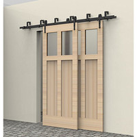 5f16ft new style bypass slide door hardware door hardware closet track kit set barn door hardware double track kit arrow new