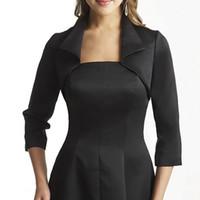 Caldo classico nero giacche bolero in raso Mezza manica avvolgere bolero giacca Custom Made accessori abito da sposa