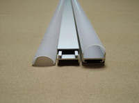 2.5M / pcs 50M / LOTE Canal de alumínio em forma de U para luzes de tira LED flexíveis / rígidas com tampa branca do difusor, tampas de extremidade e clipes de montagem de metal