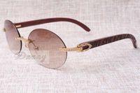 New Round Fashion Retro Confort Diamond Lunettes de soleil T8100903 Natural Check Motif Miroir Sunglasses Best Lunettes de qualité Taille: 58-18-135
