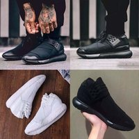 2017 All White Color Mens Y3 Qasa High Top Sneakers Good Qua...