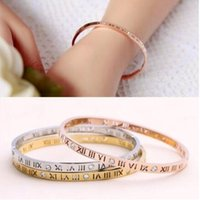 Silver Bracelet Bangle Jewelry Hot Sale Fashion Rome Number ...