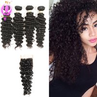 Brazilian Hair Deep Wave Human Hair Extensions Unprocessed H...