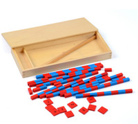 New Wooden Baby Toy Small Numerical Rods Montessori Math Lea...
