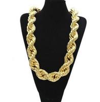 L'oro placcato Mens di Hip Hop della collana di rame pesante 3 centimetri Extra Large Catene Fune