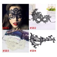 Halloween lace mask Masquerade Masks Black White Lace Masks ...