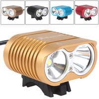 SecurityIng 1800Lm 2 x XM- L2 U2- 1A LED Bicycle Light with Lo...