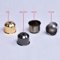 10 unidades / lote Vintage E27 Lamp Socket Cup Bronceado / Negro / Plateado / Dorado Soporte de lámpara de mesa Cubiertas de pared Luz de techo Bases de lámpara Copas