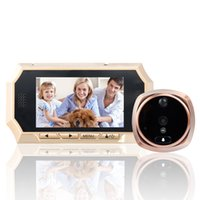 3.5 Inch Monitor Motion Detection Wired Video Doorbell Peephole Viewer
