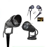 Уличные светодиодные садовые прожекторы 6W 8W 10W Светодиодные прожекторы Настенный двор Пруд Пруд светодиодный свет для газонов Лампы для ландшафтного освещения 12V 85 / 265V