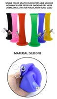 2017 New Single color muti colors portable silicone hookah w...