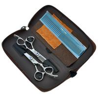 6.0inch lila drache menschliche haarschere set frisur speisen dünnschien farbig haar tesouras salon haar styling werkzeuge lzs0299