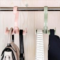 4 ألوان خزانة خزانة HooksTote حقيبة يد محفظة حقيبة حامل شنقا رف مرتب المنظم التخزين شماعات