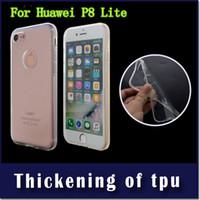 Samsung galxy J5 J510 2MM Kalınlığı Zırh Şeffaf Yumuşak TPU İçin Huawei P9 lite P8 lite telefon Koruyucu kılıf kapak perakende ambalaj için