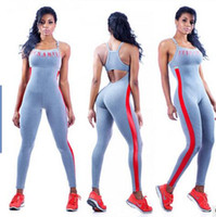 Hot Sale women Bandage yoga Jumpsuit Joggers Sleeveless body...