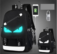 USB Charge Luminous backpack men studends bags 9 color trave...