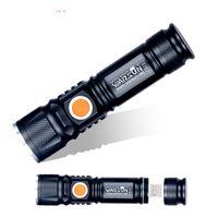 Großhandel wasserdichte USB-Ladegerät Leistungsstarke Lanterna Taktische Taschenlampe Blitzlicht Linterna LED Zoomable Für Jagd Gladiator Zaklamp Taschenlampe