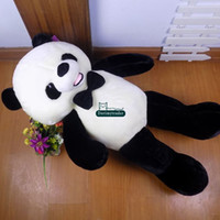 Dorimytrader grande 140 cm divertido suave de peluche de dibujos animados Panda Toy 55 '' Gigante de peluche Panda Panda Muñeca regalo del amante del bebé presente DY61544