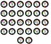 4 Styles mixtes Verre initial A-Z Alphabet 26 lettres Snaps 18MM verre Charms Bouton Bouton Fit for DIY Bracelet Collier snap