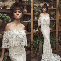 Full Lace Mermaid Wedding Dresses Backless Wedding Dress Off...