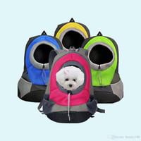 الحيوانات الأليفة الناقل الكلب الناقل الحيوانات الأليفة حقيبة حقيبة سفر محمولة حقيبة الكلب محفظة حقيبة الأمامية شبكة ظهره رئيس خارج مزدوج الكتف جرو الكلب