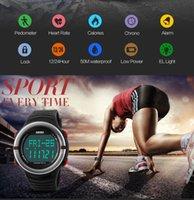 SKMEI мужчины цифровой светодиодный будильник водонепроницаемый наручные часы монитор водонепроницаемый цифровые часы для мужчин задний свет секундомер 1111