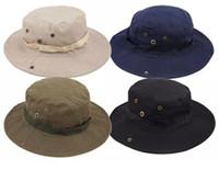 Chegada nova Casual Ourdoor Chapéu Toldo Homburg Viagem de Pesca de Cowboy Oeste Moda Bucket Chapéus Para Homens 20 pcs frete grátis