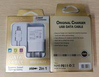 Top qualité 2 en 1 5 V 2A USB chargeur mural ensemble chargeur de voyage à domicile adaptateur + USB synchronisation câble de données de charge pour téléphone mobile