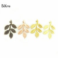 BoYuTe 50Pcs 32*50MM 7 Colors European Leaf Charms Wholesale...