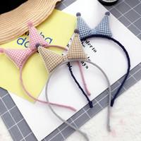 Nouveau bébé cheveux Sticks simples oreilles Lattice Cat Kids Shape 12 pcs Pinces à cheveux / lot enfants mignons cheveux Hoops