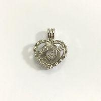 Лучший мама сердце любовь дизайн Кейдж кулон, Жемчужина Gem бисера медальон подвеска, DIY мода ювелирные изделия для Мумия День матери подарок