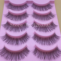 Natural Sparse Cross Eye Lashes Extension Maquillaje Long False Eyelashes Thick White Cotton Terrier Pestañas Falsas Naturales