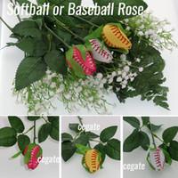 Presentes de softball rosa SoftballFlores De Beisebol Feito De Qualidade Couro Softball Rose Idéia De Beisebol rosa