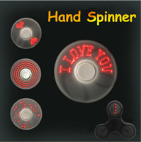 Newest LED Digital Light fidget spinner three changeable des...