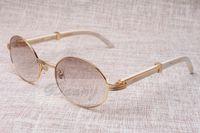 Круглые солнцезащитные очки для очков крупного рогатого скота Eyeglasses 7550178 Натуральная прямая нога Черные рожки Мужчины и женщины Солнцезащитные очки Glasess Eyewear Размер: 55-22-135мм