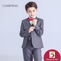 Marca nova página meninos ternos de casamento terno de manga Longa estilo de Alta qualidade tecidos meninos 3 peça terno desconto promoção A partir de fornecedores da china