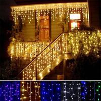 Buz Dize Işık 3 M 100 LEDS 4 M 120 LEDs Peri Lambası 110 V 220 V Parti Düğün LED Twinkle Aydınlatma Için Noel