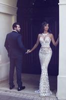 Vestido de Festa 2021 Sirena Vestido de noche Nuevo Sexy Árabe Custom Hecho a través de los vestidos de baile Vestidos formales Vestidos de novia