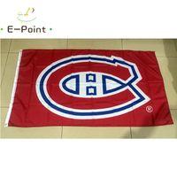 Montreal-Kanadier 3ft x 5ft (90 cm * 150 cm) Polyester-Flagge