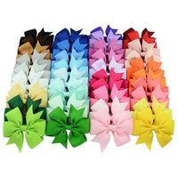 Baby Girls Bow Hairpins 3inch Grosgrain Ribbon Bows With All...