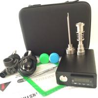 Portable E dab nail kits oil rig electric dab nail PID TC digital control dabber box Titanium nails 110/220V coil heater