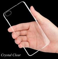Para iPhone 6 6S caso de la protección de la cubierta Galaxy S6 S7 S8 suave transparente TPU Crystal Clear Phone 7 Plus de Samsung
