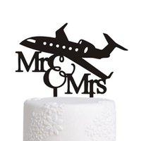 Hochzeitstorte Dekor - Mr Mrs Decor Cake Topper Acryl Hochzeit Party Dekoration Kuchen Zubehör Braut Bräutigam für Party Favors