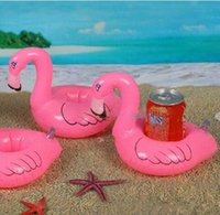 Mini Flamingo Floating Inflatable Drink Can Cell Phone Holde...